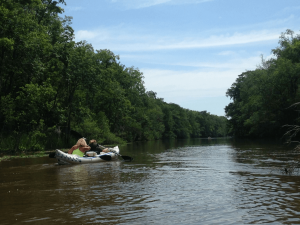Paddling on the Black river